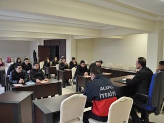 Gönüllü İtfaiyeci adaylarının eğitimine başlandı