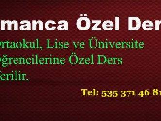 ALMANCA ÖZEL DERS…