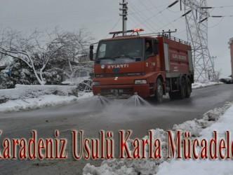 """""""KARADENİZ USULÜ"""" KARLA MÜCADELE"""