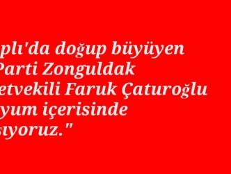 """""""ÇATUROĞLU'NA TEŞEKKÜR EDERİM"""""""
